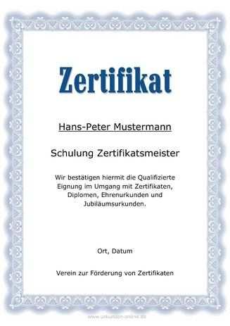 Vorlage Professionelle Zertifikate Wie Teilnahme Zertifikate Und