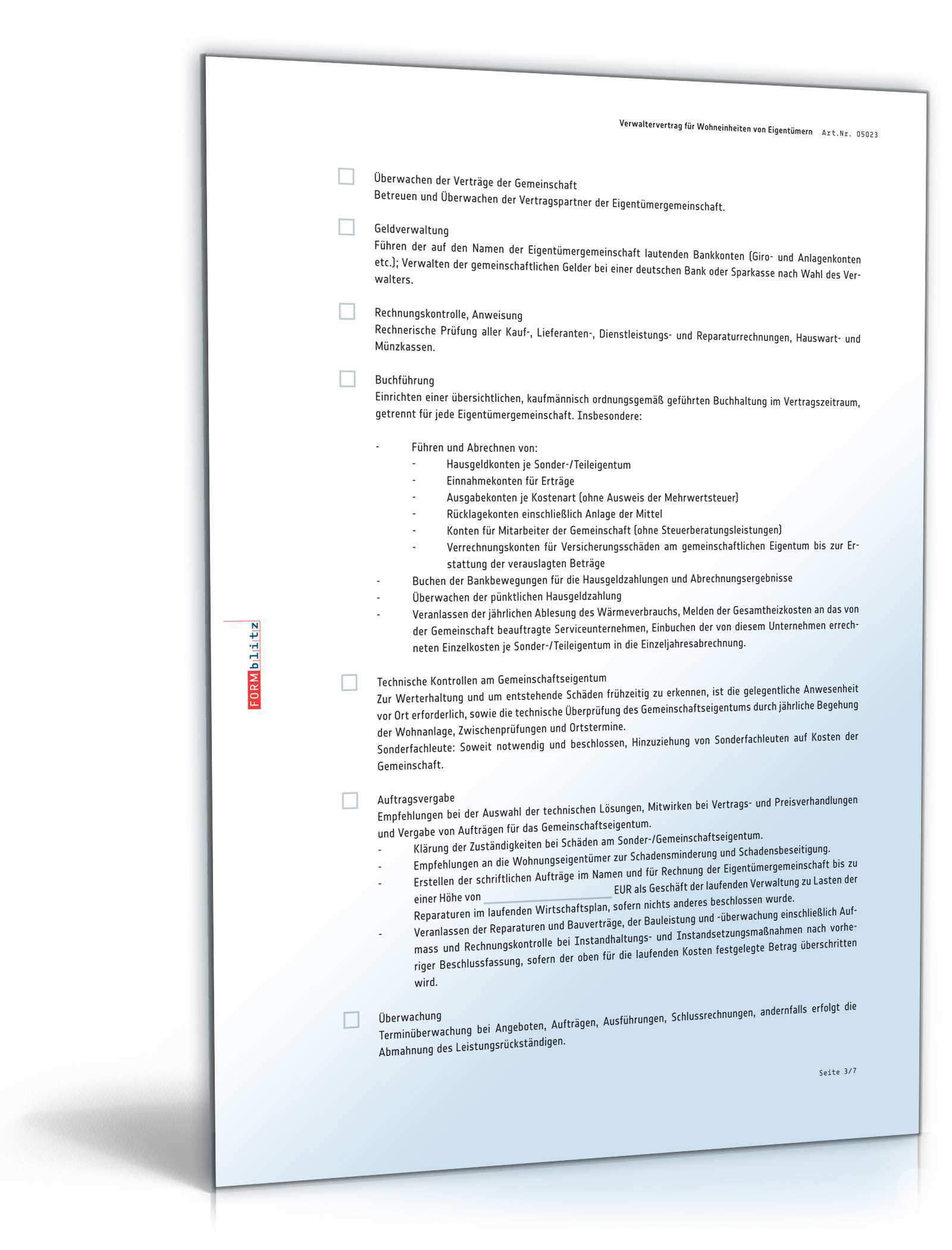 Weg Verwaltervertrag Rechtssicheres Muster Zum Download