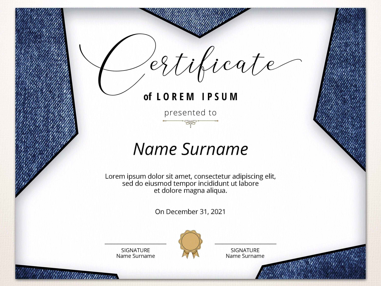 Editable Blank Certificate Template Printable Certificate Modern