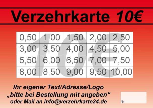 Abstreichkarte 10 Eur Mit Vorlagen Verzehrkarten Shop