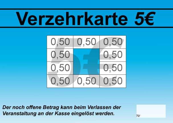 Verzehrkarte 5 Eur Mit Vorlagen Verzehrkarte 24
