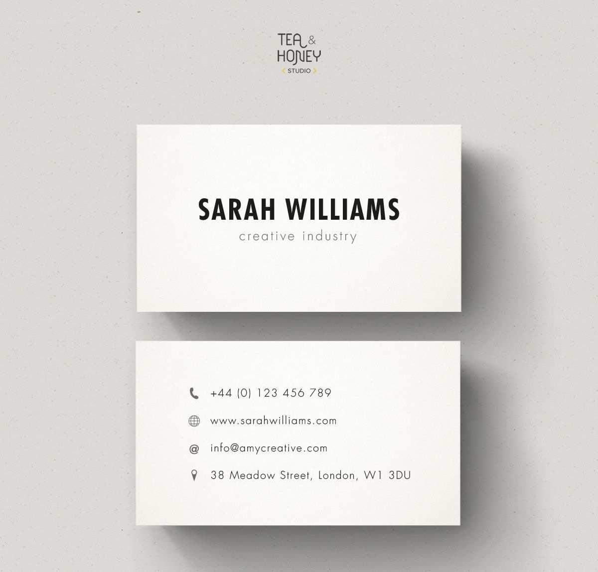 Minimalistische Visitenkarten Calling Card Design