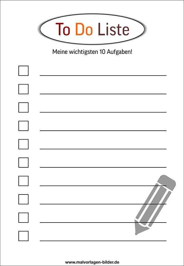 To Do Liste Vorlage Kostenlos To Do Liste Vorlage To Do Liste