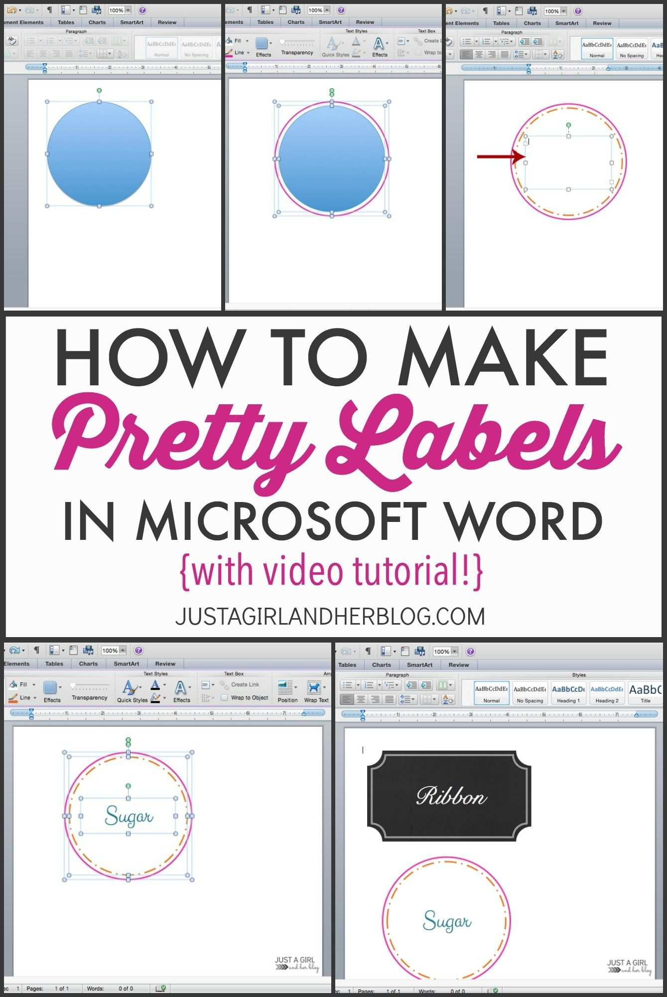 Video How To Make Pretty Labels In Microsoft Word How To Make