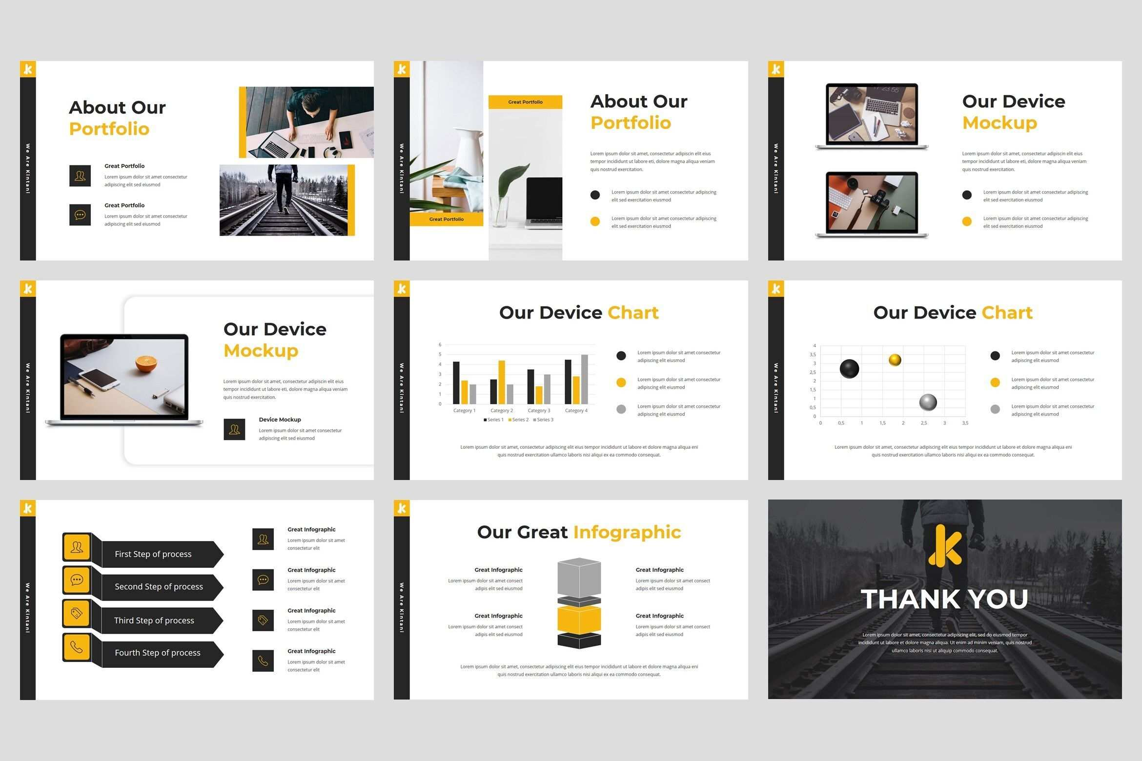 Kintani Startup Powerpoint Template By Stringlabs Thehungryjpeg