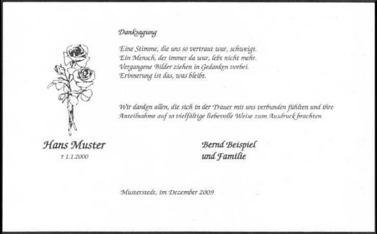 Danksagungskarte Edel Weiss Rose Klassischer Trauerrand