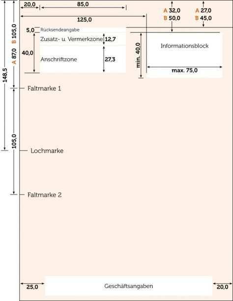 Briefpapier Nach Din Norm 5008 Gestalten Rechnungs Design