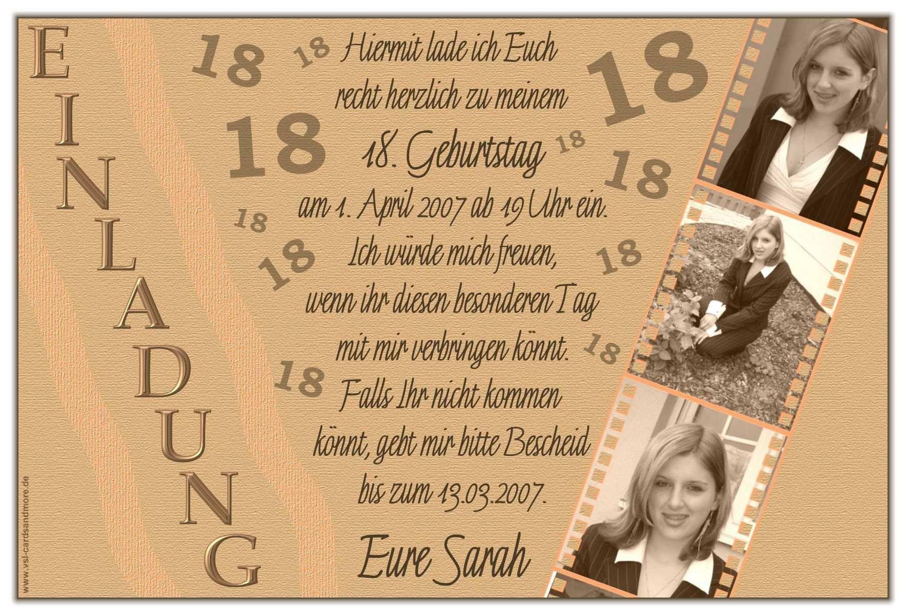 Pin Auf Geburtstag Einladung