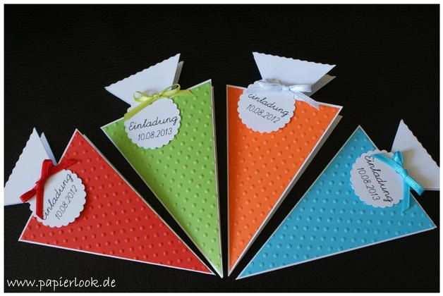 Einladungen Schultute Farbwahl Einladung Einschulung