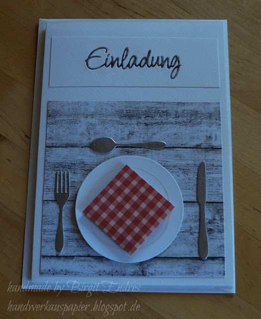 Einladung Zum Essen Einladung Zum Essen Einladung Basteln