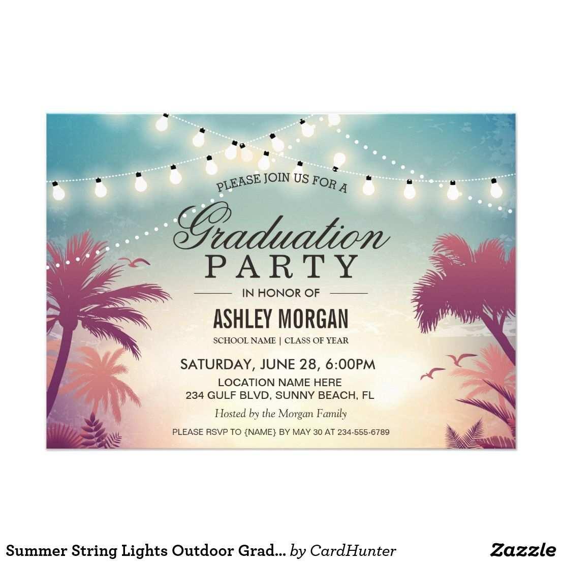 Sommersaitenlichter Aussenstudium Einladung Zazzle De