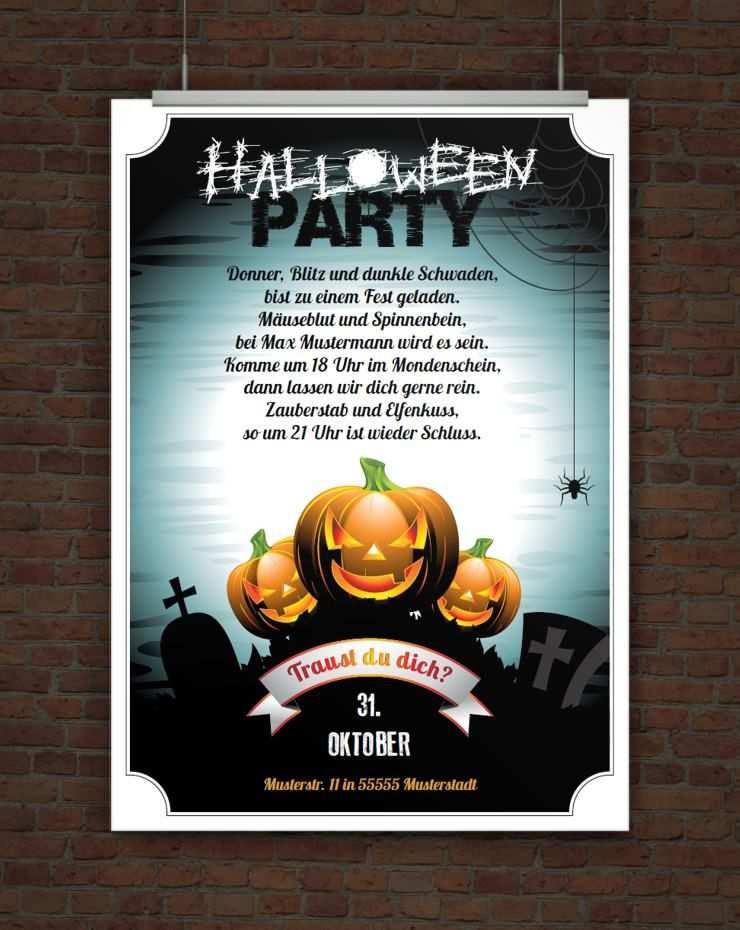 Einladung Halloweenparty Zum Ausdrucken Halloween Party