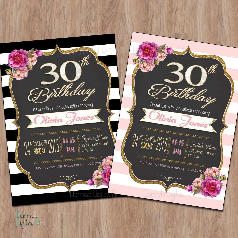 Einladung 30 Geburtstag Vorlage Einladung Geburtstag Einladung