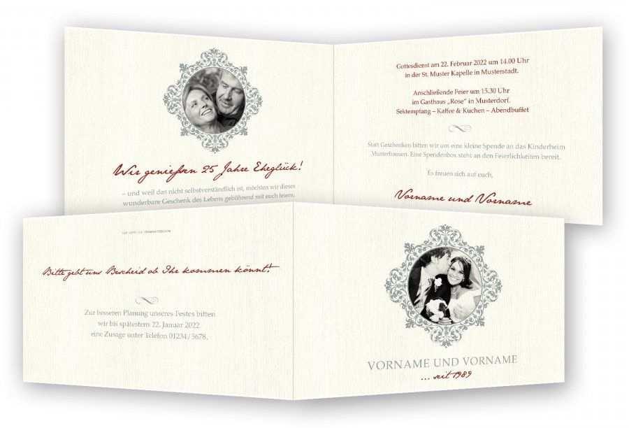 Einladung Silberhochzeit Best Of Silberhochzeit Einladung Vorlage