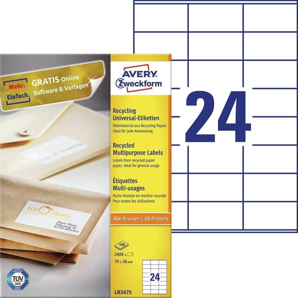 Recycling Universal Etiketten Lr3475 Avery Zweckform