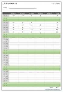 Stundenzettel Excel Tipps Excel Vorlage Vorlagen