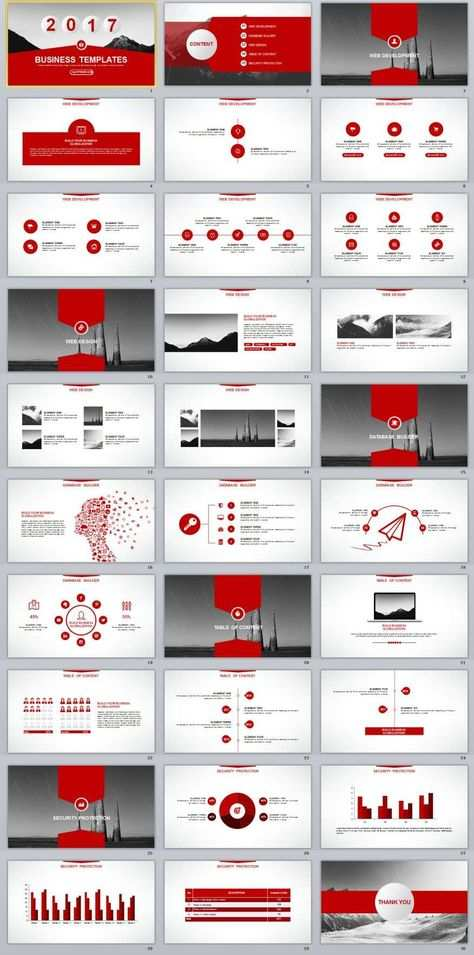 30 Red Annual Report Powerpoint Templates Powerpoint