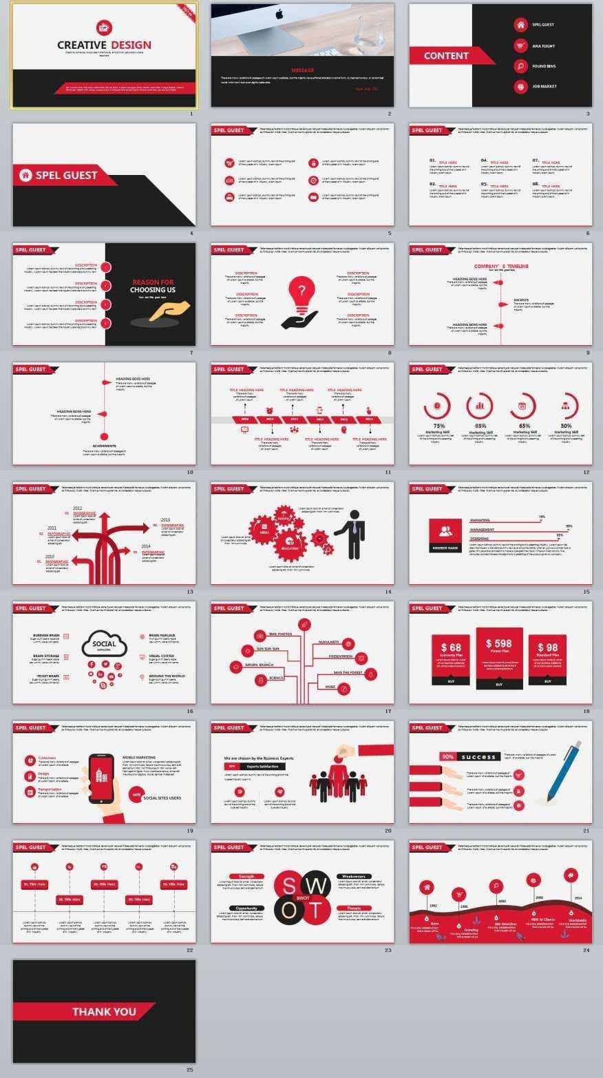 25 Creative Design Powerpoint Template Powerpoint Layout De