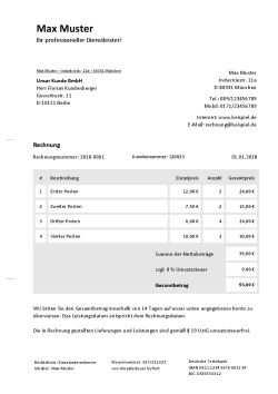 Rechnung Kleinunternehmer Online Schreiben Vorlage