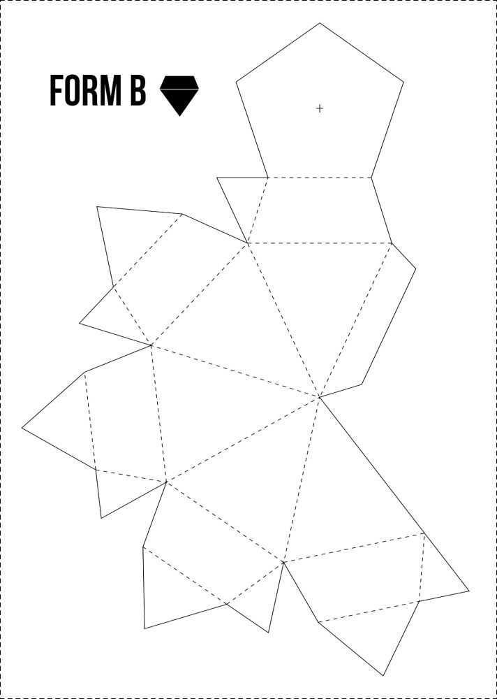 Papierdiamanten Gratis Vorlage Bei Minimalistmuss Com