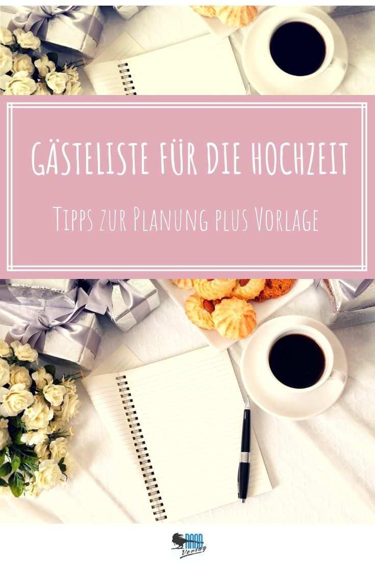 Gasteliste Fur Ihre Hochzeit Tipps Zur Planung Excel Vorlage