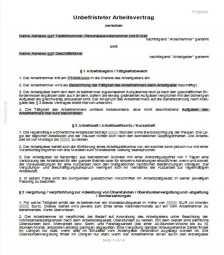 Unbefristeter Arbeitsvertrag Arbeitsvertrage Vertrage