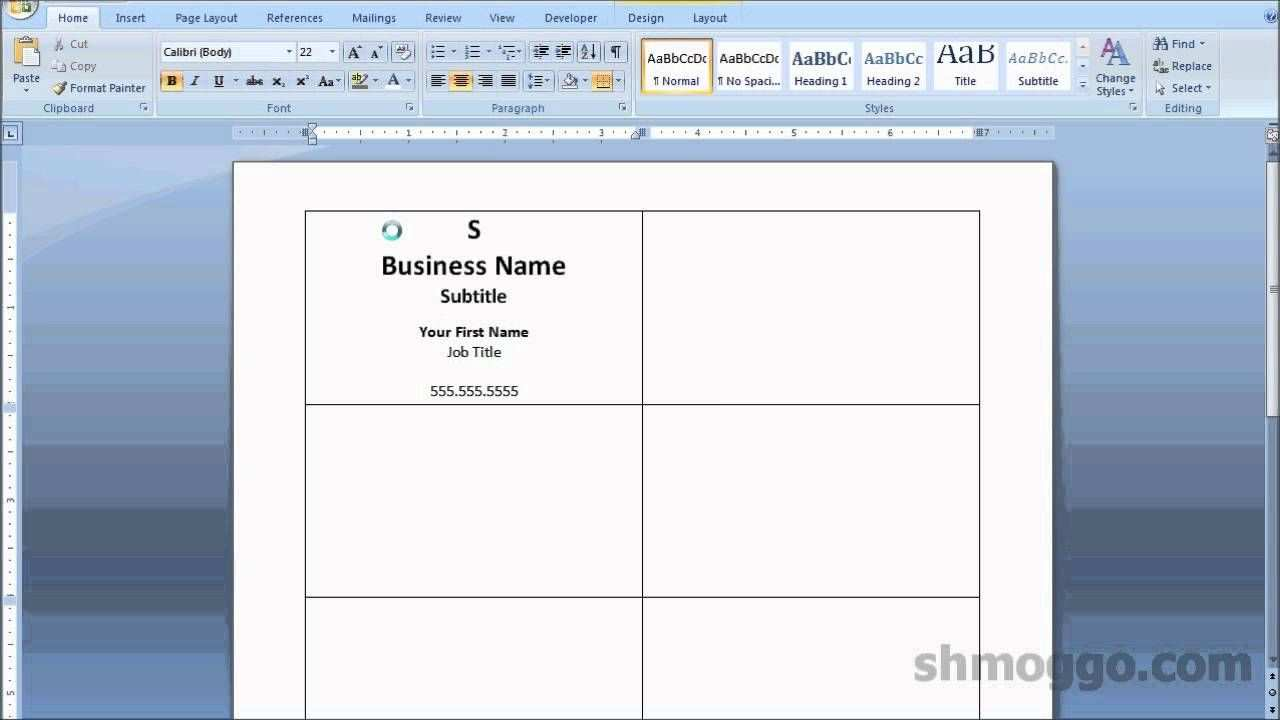 Printing Business Cards In Word Video Tutorial Printing