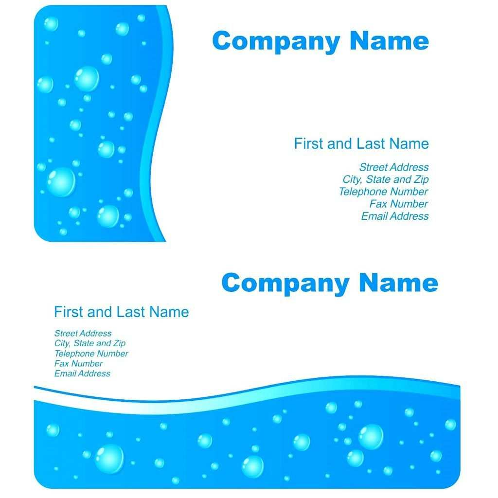 Elegante Vorlage Fur Visitenkarten In Microsoft Word Mit Hd Bild