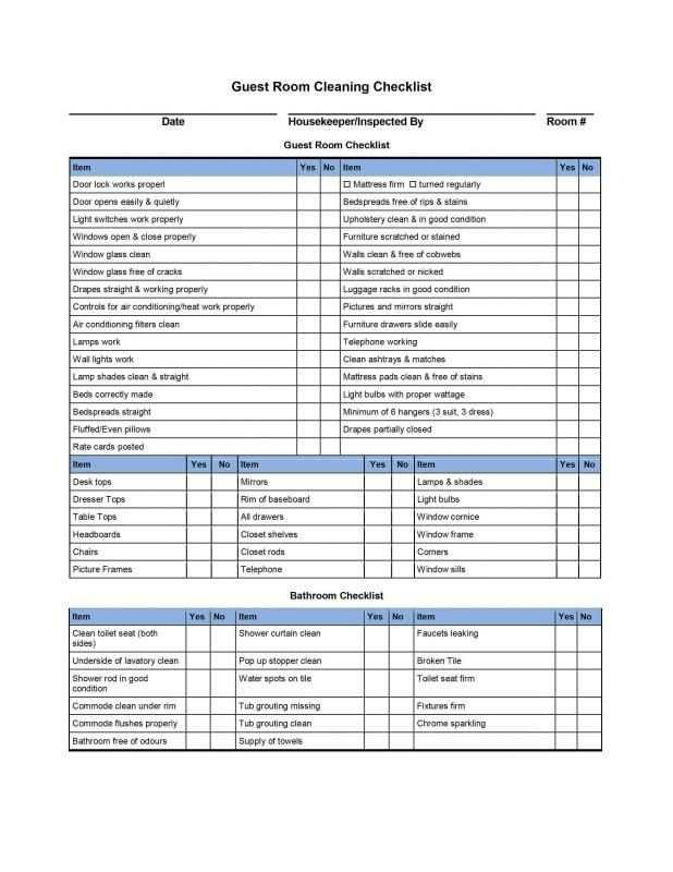 Cleaning Checklist Template Hausreinigung Checkliste Putzliste Checklisten Vorlage