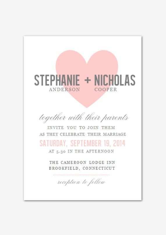 Diy Druckbare Ms Word Hochzeit Einladung Vorlage W002 Love Heart