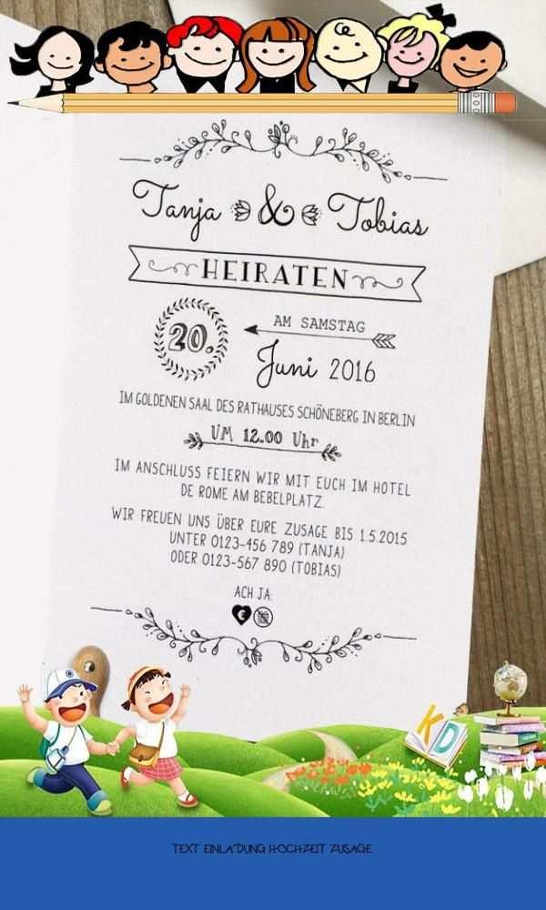 Primary 20 Text Einladung Hochzeit Zusage In 2020 Einladungen