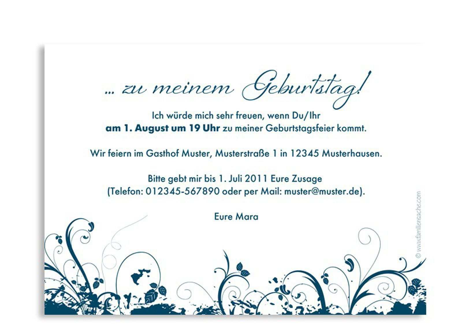 Geburtstagseinladung Text Kurz 30th Birthday Invitations