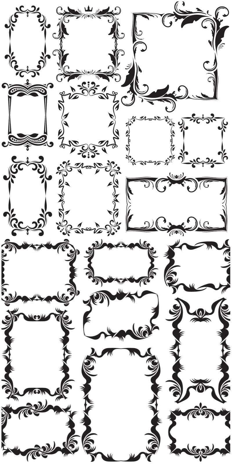 Vintage Decorative Frames Vector 2020 Uzorchatye Obrazcy