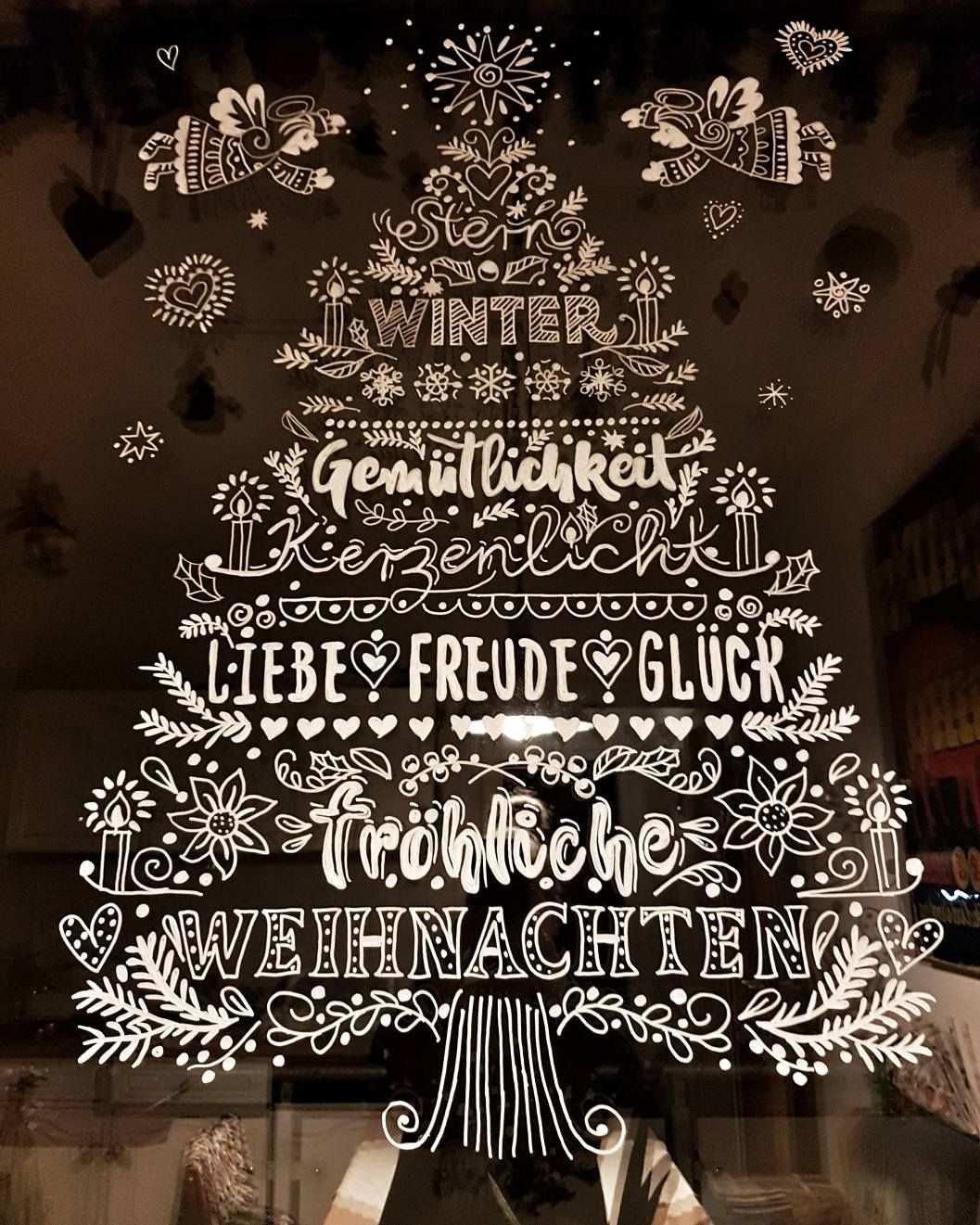 Bildergebnis Fur Kreidestift Fenster Fensterbilder Weihnachten