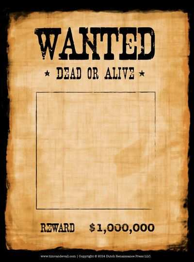 Blank Wanted Poster Template Poster Template Western Posters