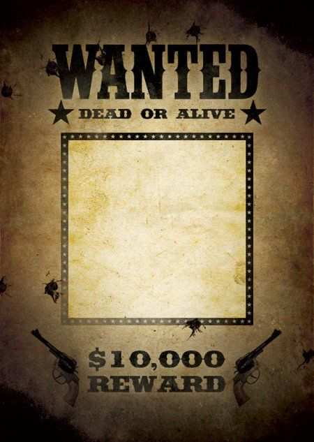 29 Free Wanted Poster Templates Fbi And Old West Mafia Party