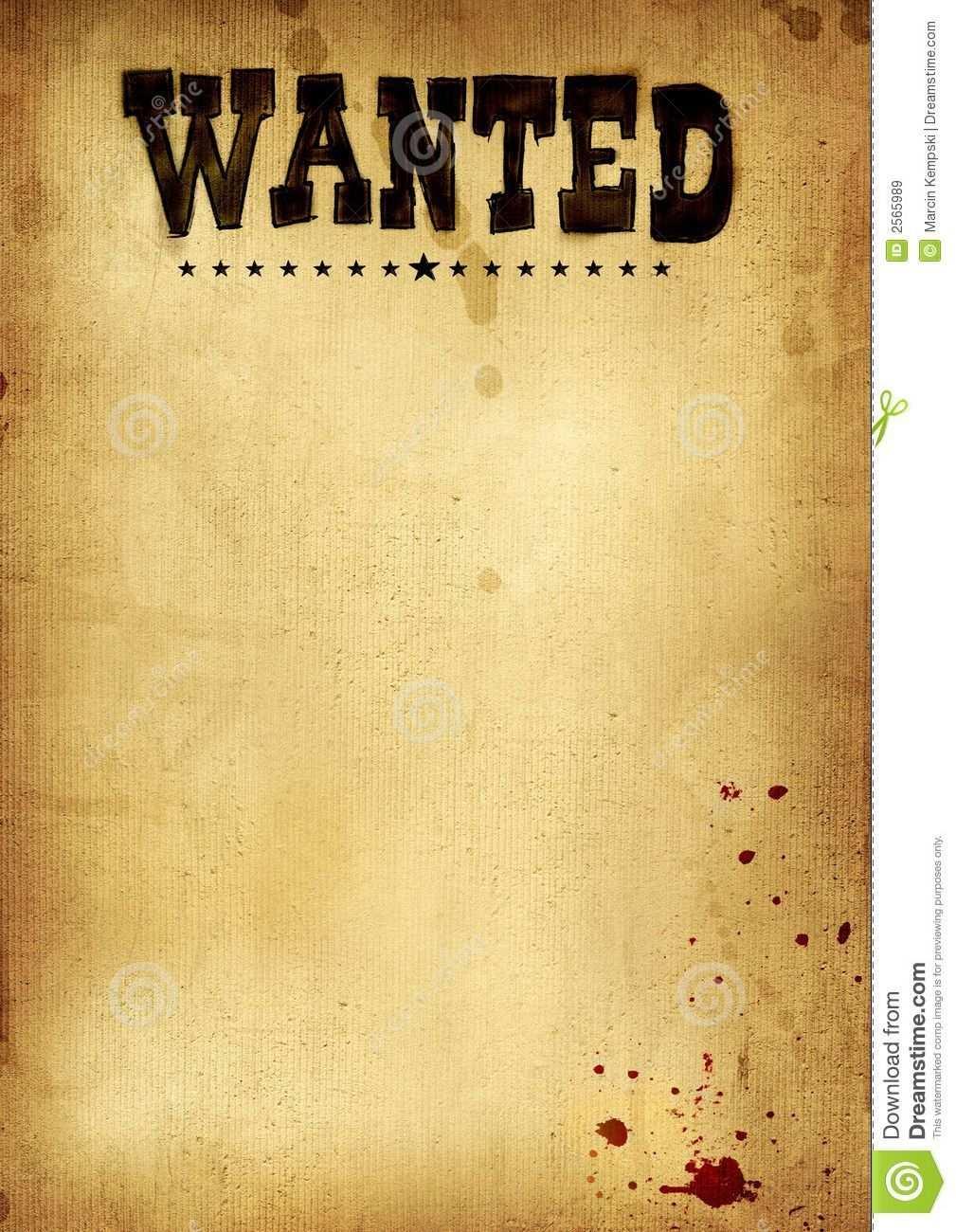 Most Wanted Template Free Download Steckbrief Vorlagen Brief