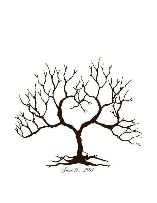 Wedding Tree 2 By Designbytheresacarr3 Baum Vorlage
