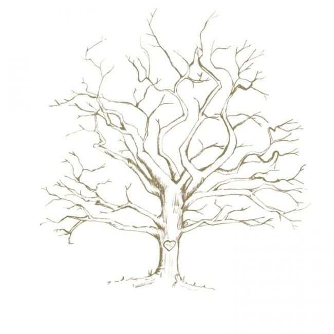 Fingerabdruck Baum Vorlage Andere Motive Kostenlos Zum
