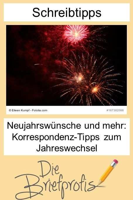 Neujahrswunsche Und Mehr Korrespondenz Tipps Zum Jahreswechsel
