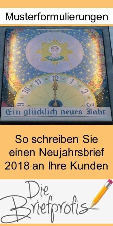 Mustertext Fur Einen Neujahrsbrief 2018 Brief Geschaftsbrief
