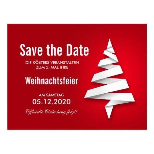 Weihnachtsfeier Einladung Vorlage Save The Date Zazzle De