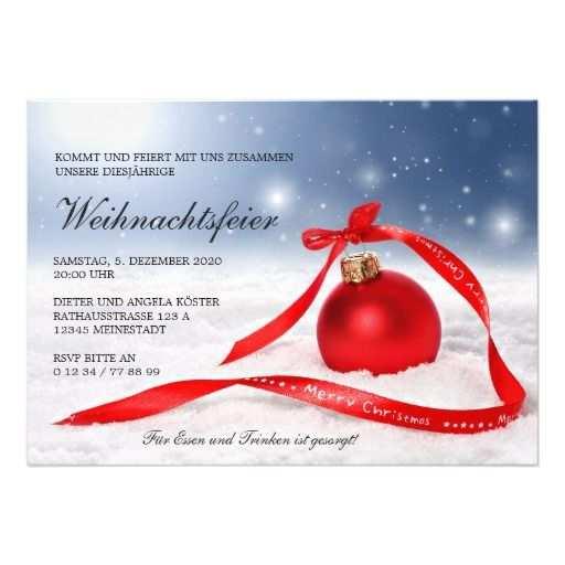 Festliche Weihnachtsfeier Einladung Vorlage Zazzle De