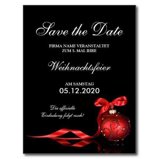 Geschafts Weihnachtsfeier Einladung Save The Date Zazzle De