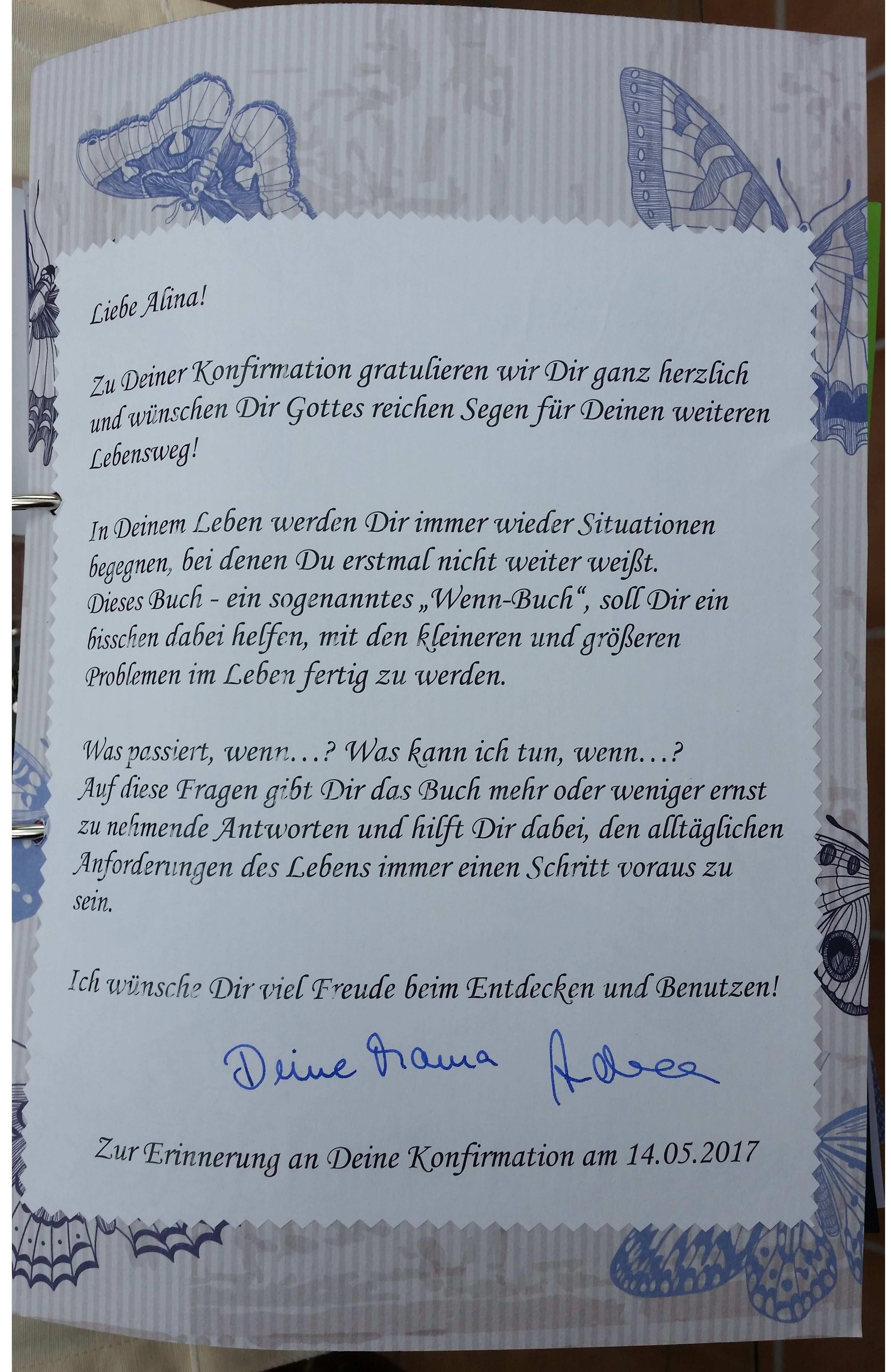 Deckblatt Mit Erklarungen Zum Wenn Buch Deckblatt Geschenke
