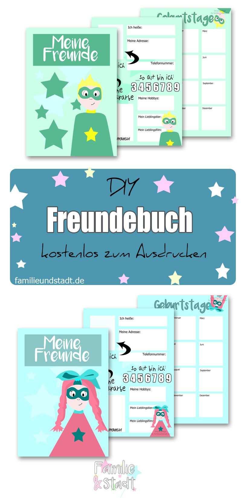 Freundebuch Fur Die Schule Vorlage Zum Ausdrucken Mit Bildern