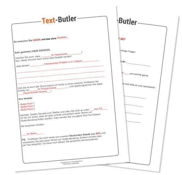 Werbebrief Muster Kostenlos Zum Sofort Download Text Butler