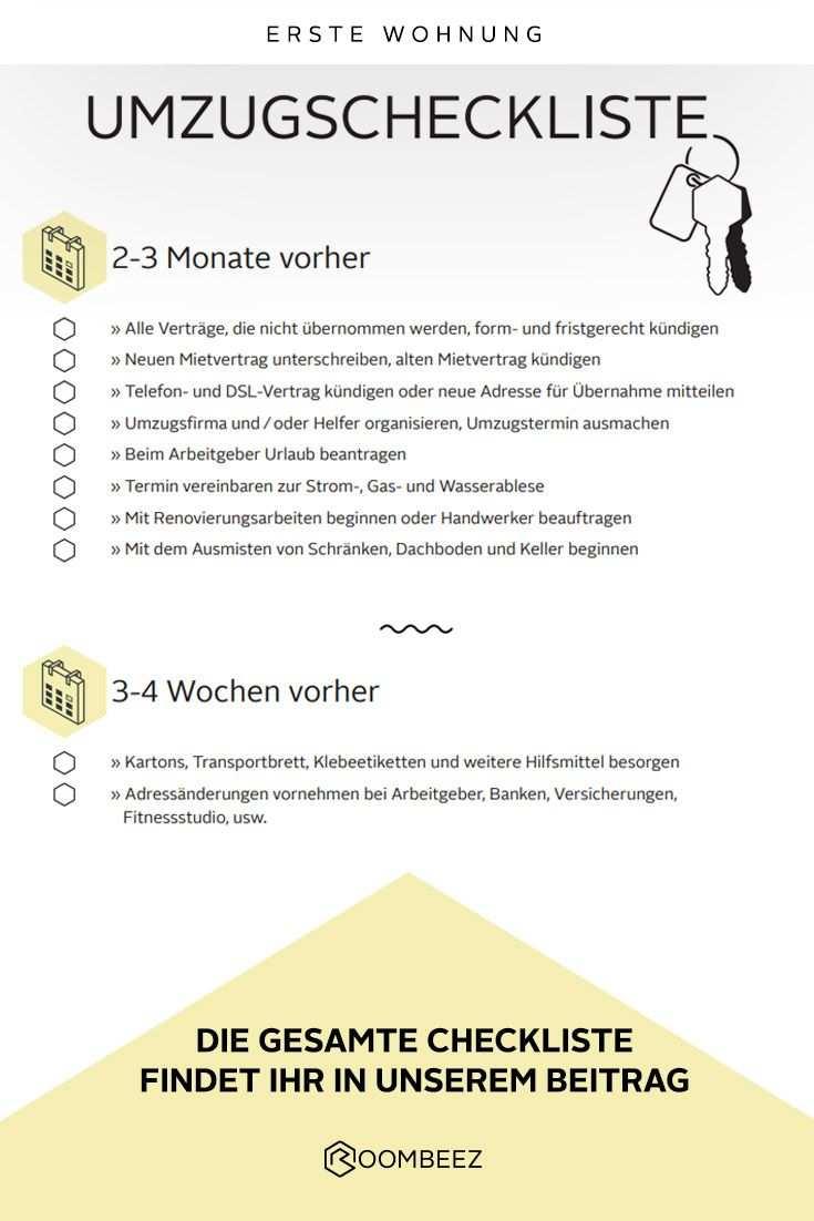 Umzugs Checkliste Kostenloses Pdf Zum Download