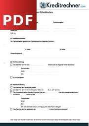 Der Darlehensvertrag Definition Und Muster Als Pdf