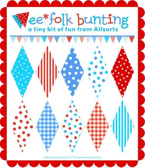Download A Free Printable To Make Wee Folk Bunting Mini Wimpel
